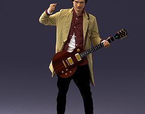 male Musician 0118 Electric guitar 3D