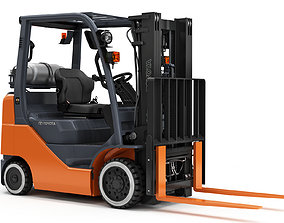 truck TOYOTA Core IC Cushion Forklift 3D model
