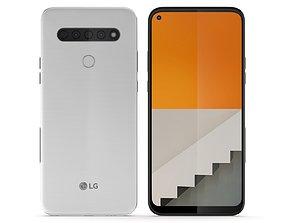 LG Q61 White 3D model