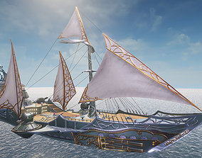 Warship - Destroyer 3D model