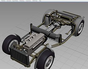 Chassis Car 50-60s 3D model