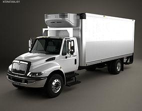 3D model International Durastar Box Truck 2002