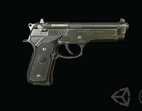 3D asset Beretta M9