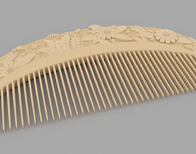 3D model Ivory comb