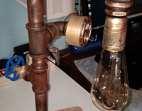 Printable steampunk lamp model with the touch sensor