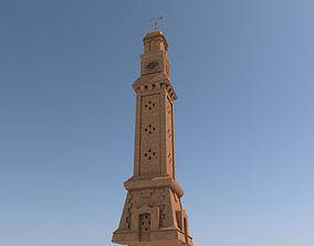 Arab Land mark Alqashla Clock Tower in Iraq 3D model
