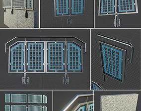 3D asset Modular Railing Set-3