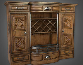 3D model Liquor Cabinet 01 Dive Bar - PBR Game Ready