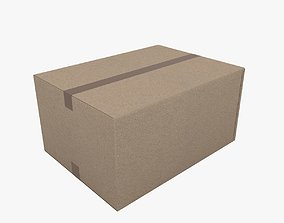 Cardboard box storage 3D