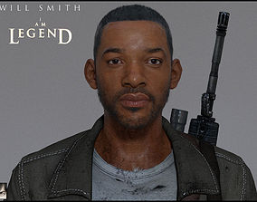 3D Will Smith from I Am Legend