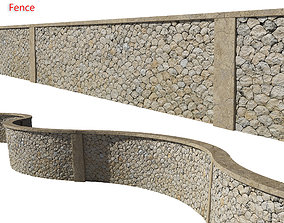 Ultra realistic Stone fence 3D