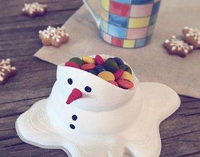 Snowman candy bowl 3D print model