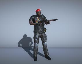 3D model SWAT Commander with shotgun