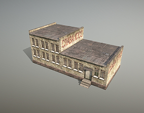 Railway House RW Building 3D asset