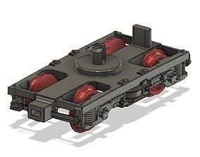 OO MK3 Coach Bogie with NEM Socket for 3D print model 2
