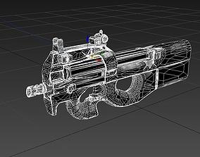 FN P90 Military Gun 3D asset