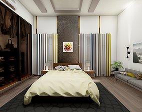 MODERN YOUTH BEDROOM - SIMPLE COLORS - WOOD - 3D model