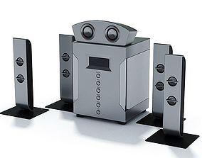 3D Gray Surround Sound System