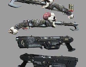 3D asset Shotgun Set
