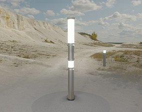 3D model Low-Poly Basic Light Column 12 - Street Light