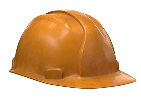 3D model worker helmet pbr