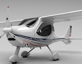 Flight Design CTLS Rigged C4D 3D asset