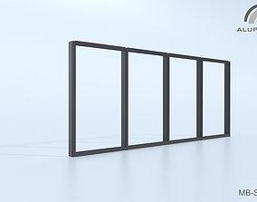 Aluprof MB-SG50 Fasada strukturalna 002 M-0325 3D
