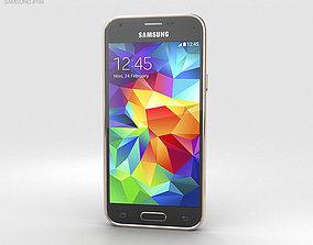 3D model Samsung Galaxy S5 mini Copper Gold