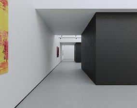 3D asset VR Art Gallery 2020 4K Corona Max Scene