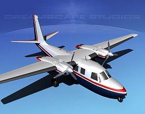 3D model Rockwell Aero Commander 560 V02