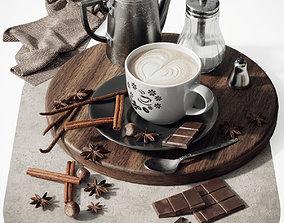 3D Coffee set 2