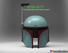 3D print model Boba Fett Helmet - Mandalorian Death watch