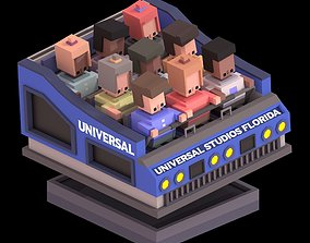 3D model Universal Ride Vehicle Animated polyplanet