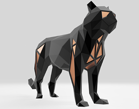 Polygonal Black Tiger Parametric 3D printable model