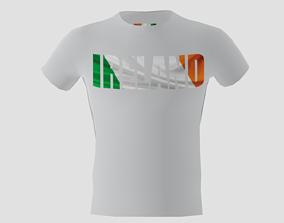 3D model Low poly Ireland shirt white colour