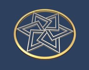 Star of David Circle 3D judaism