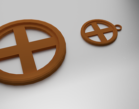 Glass Coaster Earth and Pendant 3D printable model