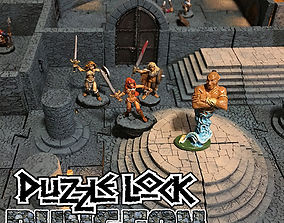 3D print model PuzzleLock Dungeon