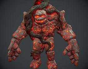 3D asset Rock Monster Boss LowPoly
