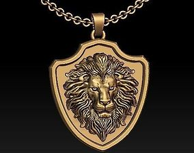 LION jewelry pendant silver 3D printable model