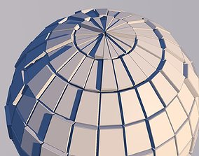 Sci Fi Sphere Shape Triangle Low-poly 3D model 2019