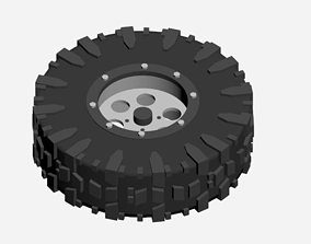 tires and rims 3D asset