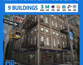 3D asset NYC Block Set 3 V2