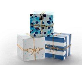 3D Indigo Speckles Gift Wrap