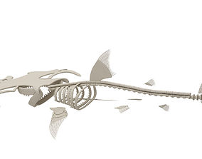 3D Hammerhead Shark Skeleton