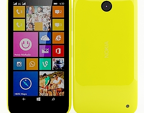 3D Nokia Lumia 630 635 Dual SIM Yellow