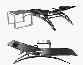 3D model Royal botania o-zon lounger and ninix side table
