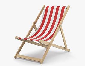 3D model beach Deck Chair