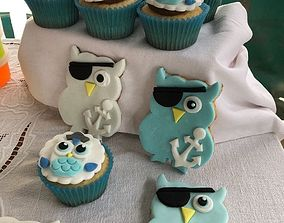 Owl cookie cutter 3D print model