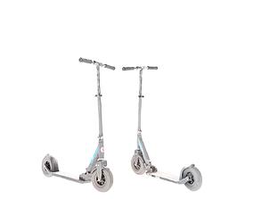 Gray kick scooter 26 3D model